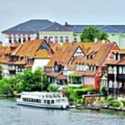 View Of Bamberg Riverfront Art Print