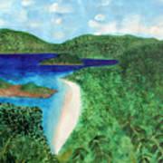 View Of Beach In St John Us Virgin Islands  Art Print
