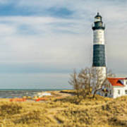View  Of Big Sable Point Michigan Art Print
