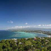 View Of Boracay Island Tropical Coastline In Philippines Art Print