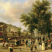 View Of Boulevard Montmartre Art Print