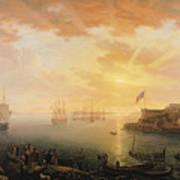 View Of Brest Harbor Art Print