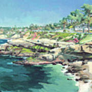 View Of Brockton Villa, La Jolla, California Art Print