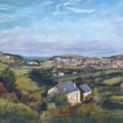 View Of Bude In Cornwall Art Print