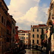 View Of Canal In Venice Art Print