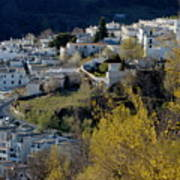 View Of Capileira Village In The Alpujarras Mountains In Andalusia Art Print