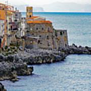 View Of Cefalu Sicily Art Print