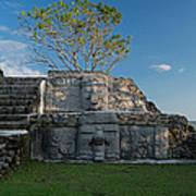 View Of Cerros Maya Ruins At Cerros Art Print