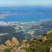 View Of City From Mountain Top Art Print