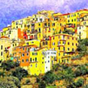 View Of Corniglia - Cinque Terre Art Print
