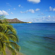 View Of Diamond Head Art Print