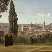 View Of Florence From The Boboli Gardens Art Print