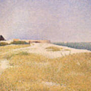 View Of Fort Samson Art Print by Georges Pierre Seurat