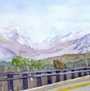 View Of Franconia Notch Art Print