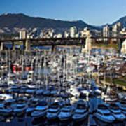 View Of Grandville Island Vancouver Canada Art Print