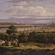 View Of Greenock  Scotland 1816 By Robert Salmon Art Print