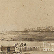 View Of Houtewael Near The Sint Anthoniespoort [recto] Art Print