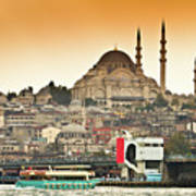 View Of Istanbul Print by (C) Thanachai Wachiraworakam