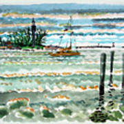 View Of Lighthouse Point Art Print