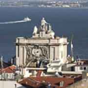 View Of Lisbon Harbor Art Print