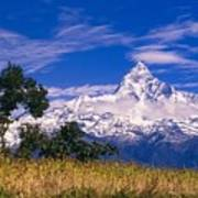View Of Machhapuchhare From Sarangkot Art Print