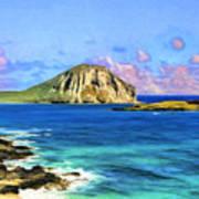 View Of Makapuu And Rabbit Island Art Print