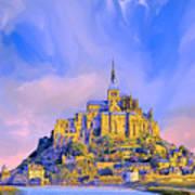 View Of Mont Saint Michel Art Print