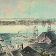 View Of New York From Brooklyn Heights Ca. 1836, John William Hill Art Print