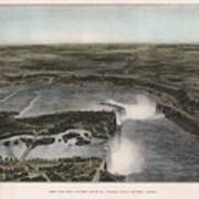 View Of Niagra Falls 1907 Art Print