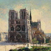 View Of Notre Art Print