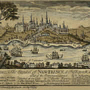 View Of Quebec City 1759 Art Print