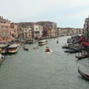 View Of Rialto Bridge Art Print