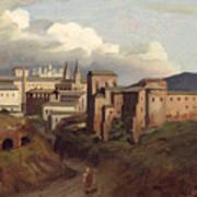 View Of Saint John Lateran Rome Art Print by Joseph Desire Court
