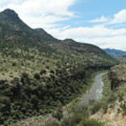 View Of Salt River Canyon Art Print