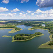 View Of Small Islands On The Lake In Masuria And Podlasie  Art Print