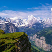 View Of The Swiss Alps Art Print