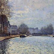 View Of The Canal Saint-martin Paris Art Print