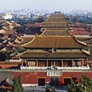View Of The Forbidden City At Dusk From Art Print by Axiom Photographic