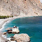 View Of The Glikanera Beach, Hora Art Print