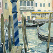View Of The Grand Canal In Venice Art Print