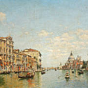 View Of The Grand Canal Of Venice Art Print