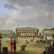View Of The Grand Theatre Constructed In The Place De La Concorde For The Fete De La Paix Art Print