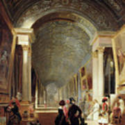 View Of The Grande Galerie Of The Louvre Art Print
