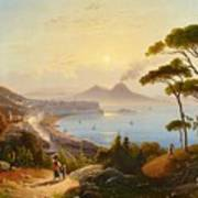 View Of The Gulf Of Naples Art Print