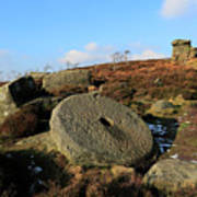 View Of The Mother Cap Gritstone Rock Formation, Millstone Edge Art Print