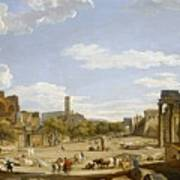 View Of The Roman Forum Art Print by Giovanni Paolo Panini