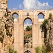 View Of The Tajo De Ronda And The Puente Nuevo Bridge From Across The Valley Art Print