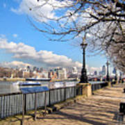 View Of The Thames Art Print