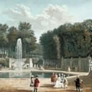 View Of The Tuileries Garden Art Print