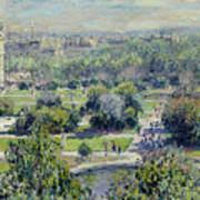 View Of The Tuileries Gardens Art Print by Claude Monet
